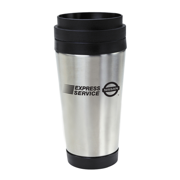 16oz Stainless Steel Tumbler With Slide Action Lid and Plastic Inner Liner