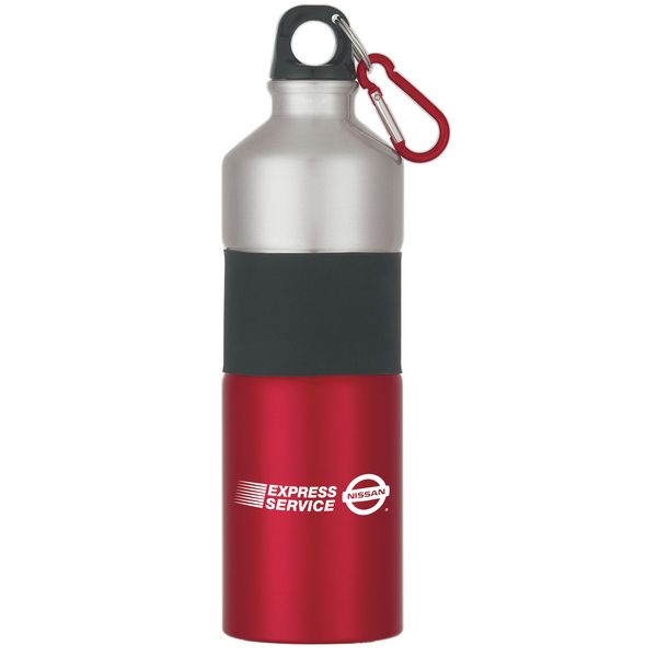 25oz. Two-Tone Stainless Steel Bottle with Rubber Grip